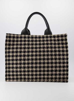 Las Lunas Bag Chris - Black/Beige