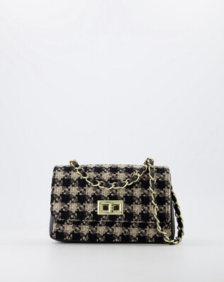 Las Lunas Audrey Bag Small - Black/Beige