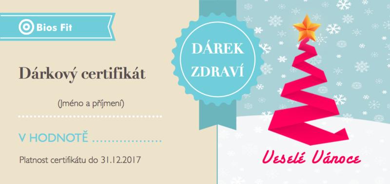 Vánoční dárkový certifikát