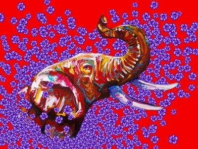 ELEPHANT IN VIOLETS