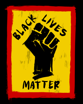 BLACK LIVES MATTER SIGN - Art Print