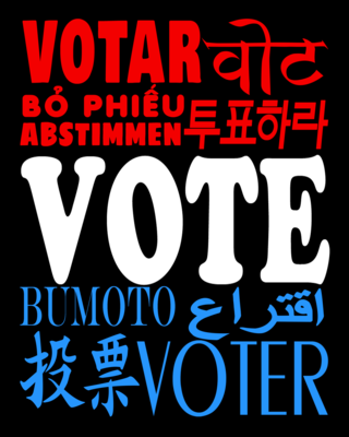 THE ALL AMERICAN VOTER - Art Print