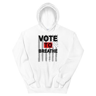 VOTE TO BREATHE AMERICAN HOODIE- WHITE