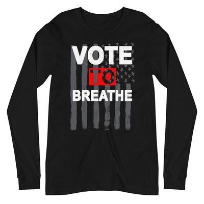 VOTE TO BREATHE AMERICAN SHIRT - BLACK