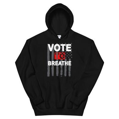 VOTE TO BREATHE AMERICAN HOODIE - BLACK
