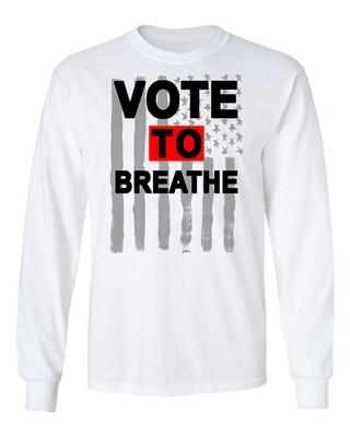VOTE TO BREATHE AMERICAN SHIRT- WHITE