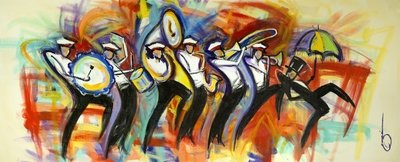 The Dirty Rice Jazz Band - print