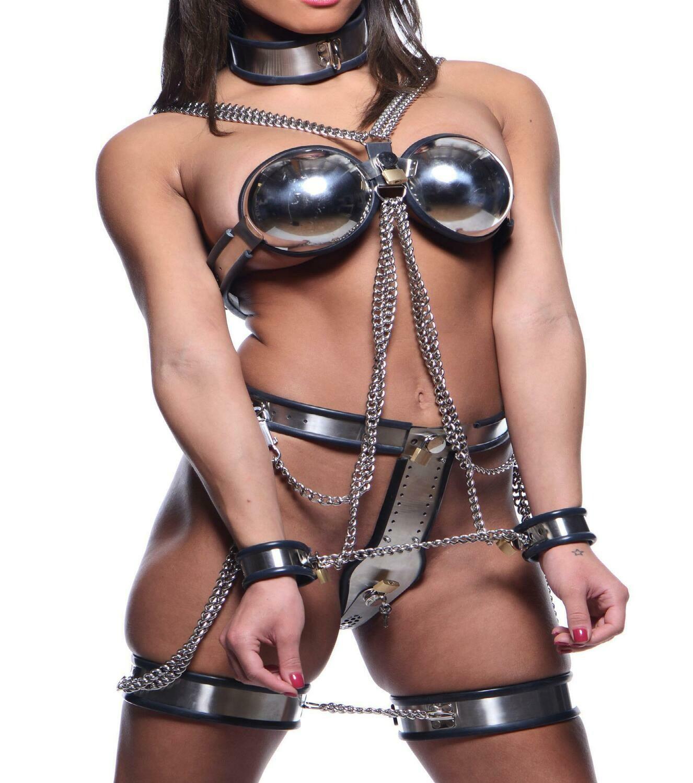 Rubber cuffs used in bondage