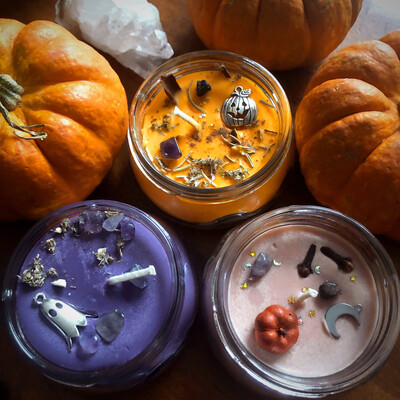 Mini Trifecta Halloween Candle Set