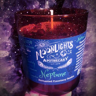Neptune Planetary Candle