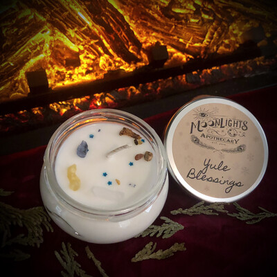 Mini Yule Blessings Candle