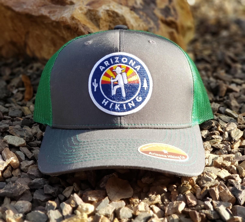 Charcoal / Kelly Green Richardson Trucker