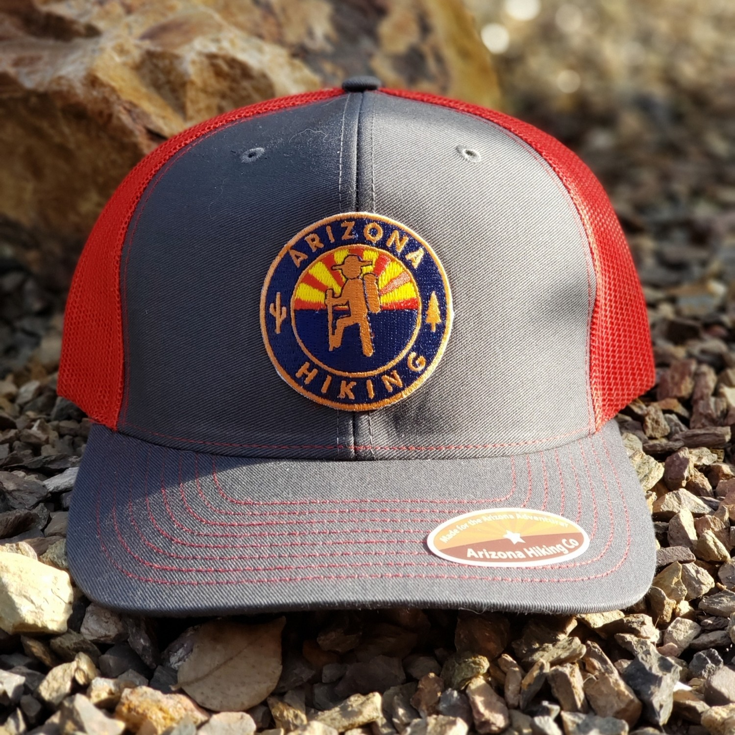 Charcoal / Red Richardson Trucker (Copper Edition)