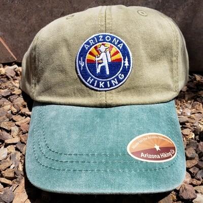 AZH Optimum 2-Tone Hat - Desert Khaki / Forest Green