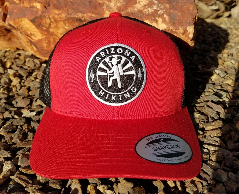 """The Classic"" AZH Trucker - Red/Black (B&W Patch)"
