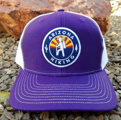 Purple / White Richardson Trucker