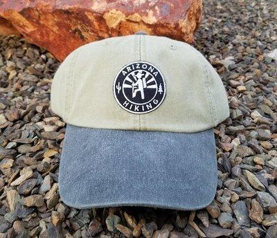 AZH Optimum 2-Tone Hat - Desert Khaki / Smoke (B&W Patch)