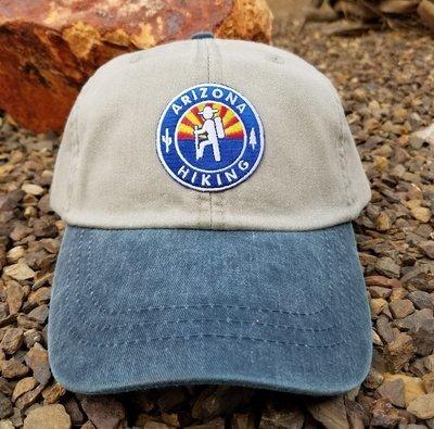 AZH Optimum 2-Tone Hat - River Stone / Monsoon Blue