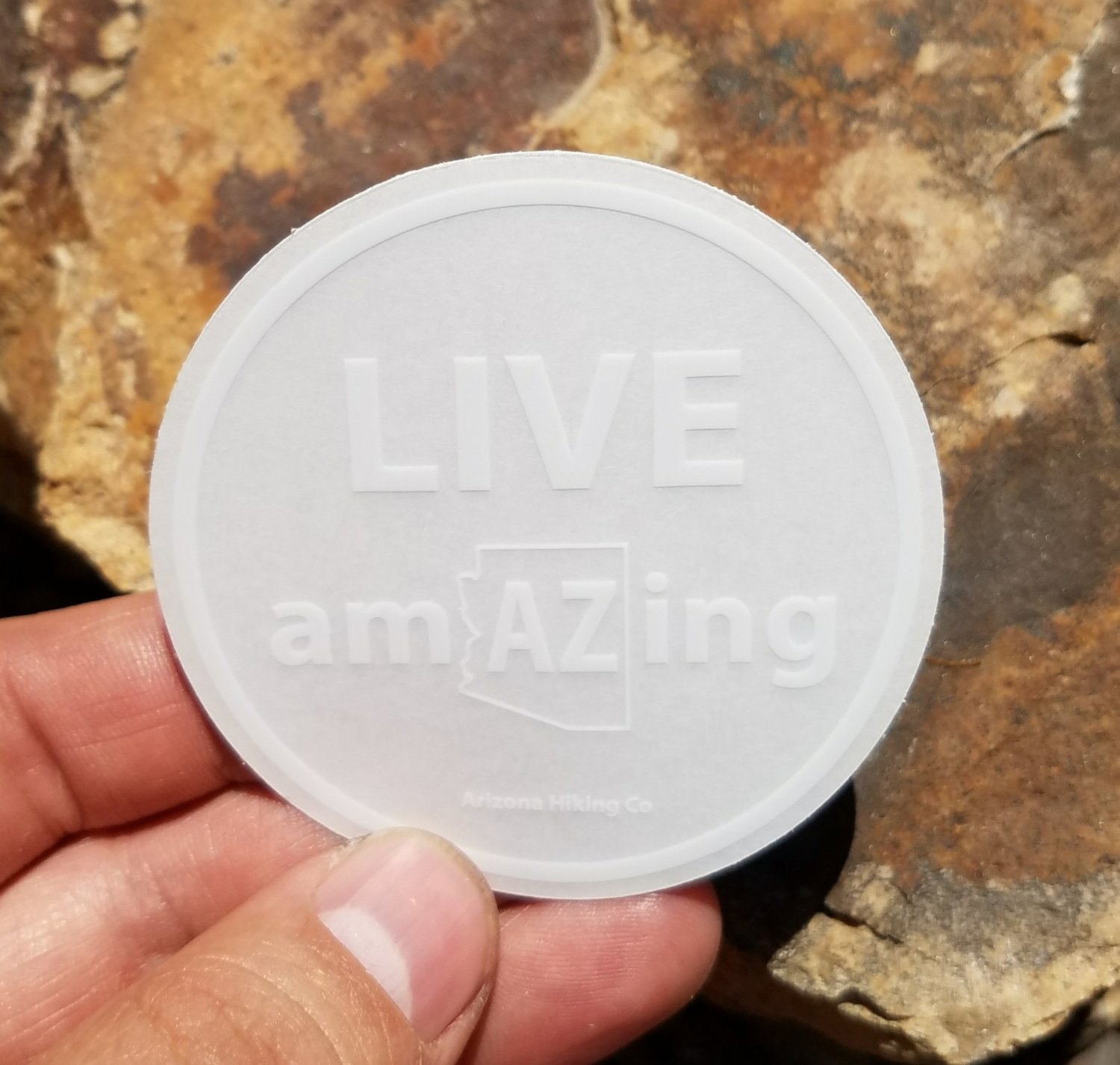 Live amAzing Sticker (Clear)