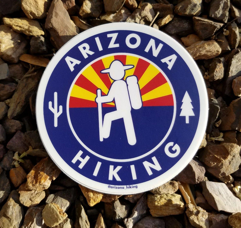 Arizona_Hiking Logo Sticker