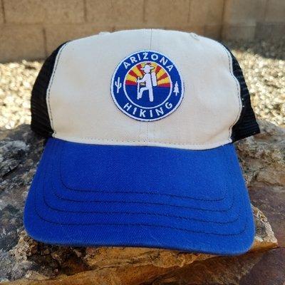 Arizona Hiking Low-Pro Washed Trucker -Stone/ Black/ Royal
