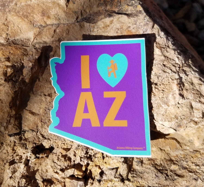 I love/Hike  AZ (Purple and Teal)