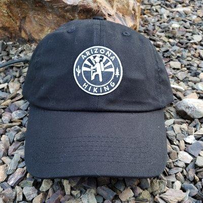 Arizona Hiking Low-pro Dad Hat - Black (B&W Patch)