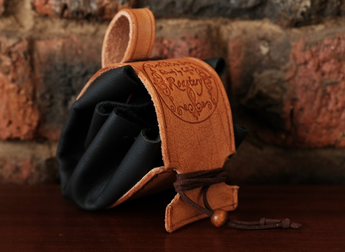 Belt pouch - black - pure leather
