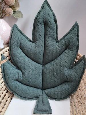 Blattkissen dunkel grün SOFORTVERKAUF