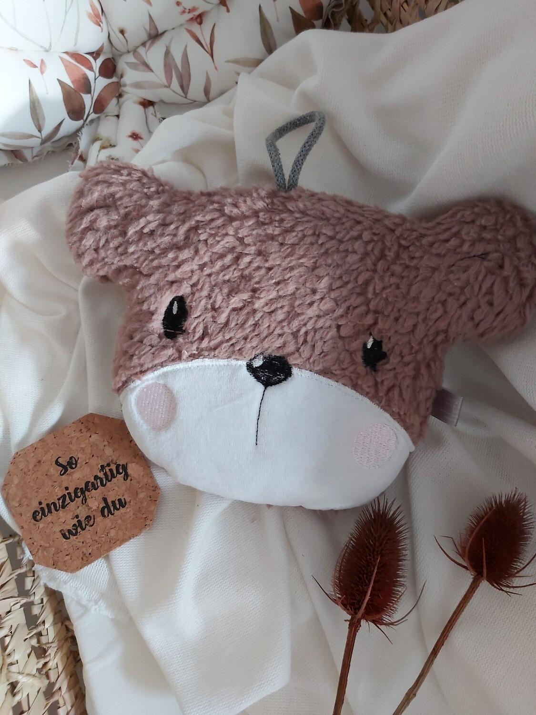 SOFORTVERKAUF Teddykopf Teddystoff Spieluhr Schlaf Kindlein Schlaf