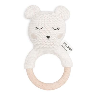 Baby Bello Boby der Polarbär Beißring mit Rassel