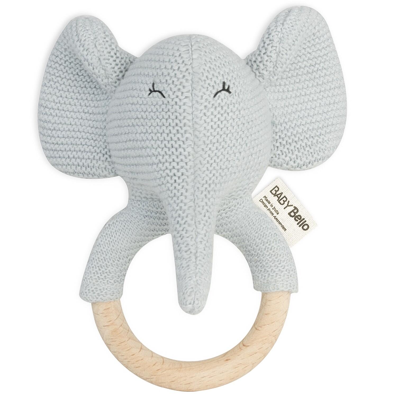 Baby Bello Elvy Elefant Beißring mit Rassel