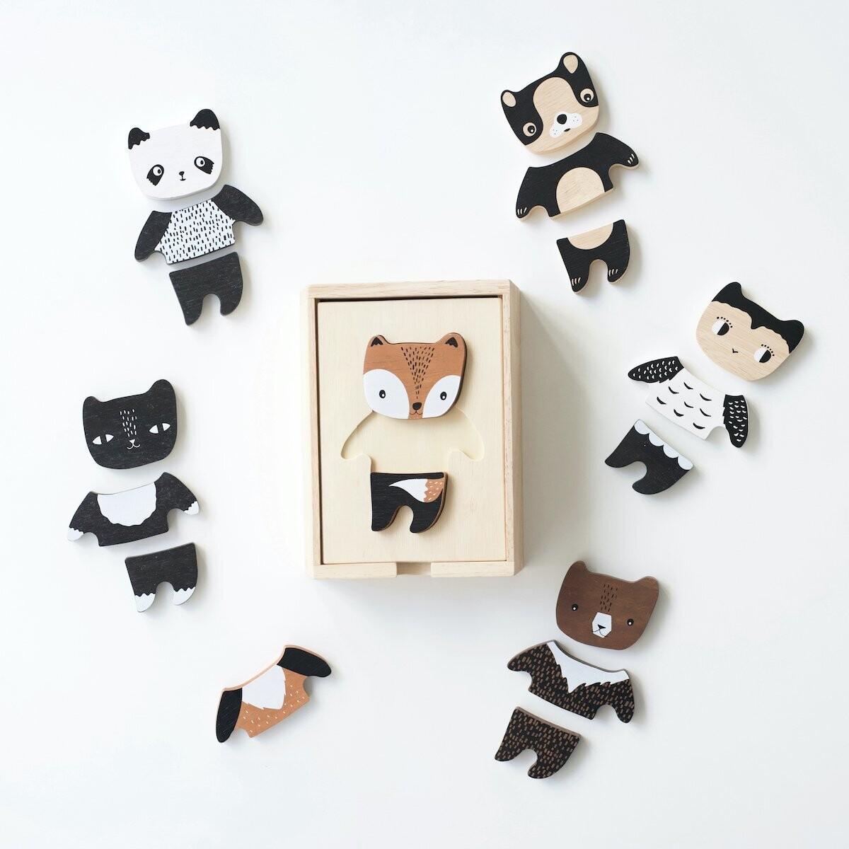 WG Holzpuzzle Mix and Match Animals