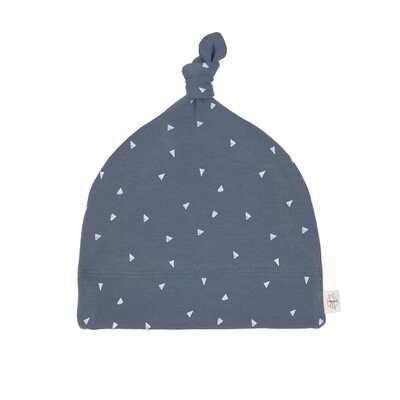 Lässig Babymütze GOTS - Beanie Triangle Blau Größe 74/80 (7-12 Monate)