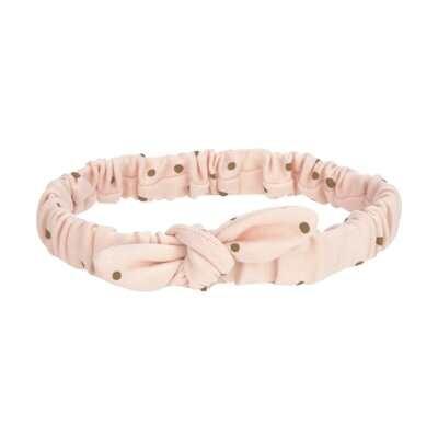 Lässig Stirnband GOTS - Head Band Punkte pink Größe wählbar (4-36 Monate)