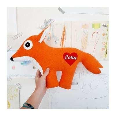Kuscheltier Fuchs mit Namenszug auch als Spieluhr
