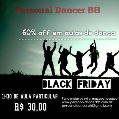 Aula de dança Black Friday