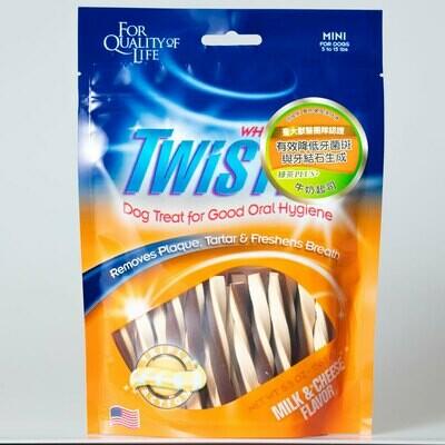 Twistix 特緹斯 雙色螺旋潔牙骨   牛奶起司   狗零食/潔牙骨