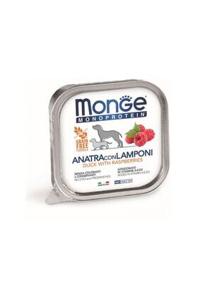 MONO蔬果 鴨肉+覆盆子 無穀主食犬餐盒(一箱24入)