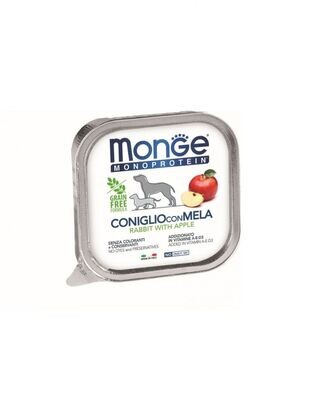 MONO蔬果 兔肉+蘋果 無穀主食犬餐盒(一箱24入)