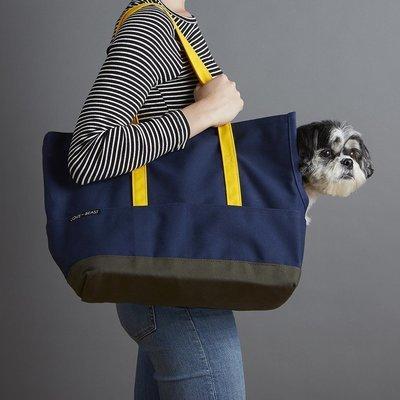 海軍藍帆布寵物包