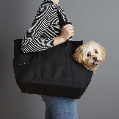 深黑色帆布寵物包