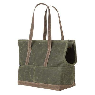 橄欖深棕色帆布寵物包 (臘面防水)