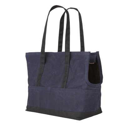 海軍藍黑帆布寵物包 (臘面防水)