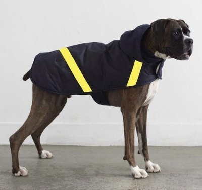 黃亮片防水棉質雨衣『內側純有機柔軟羊毛』