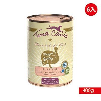 TERRA CANIS 醍菈鮮廚 - 新鮮純肉系列《火雞鮮肉佐亞麻籽油特餐》『400g/6罐裝』