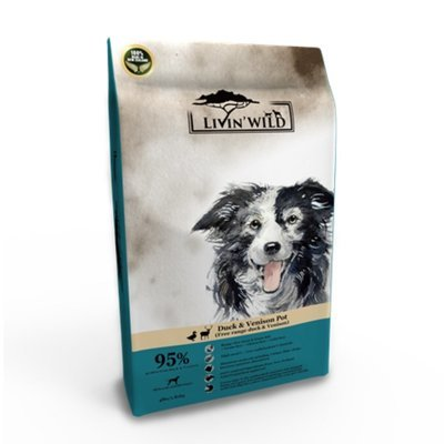 Livin'Wild 野宴-紐西蘭天然寵糧-犬系列《放養鴨&草飼鹿》4lb/1.8kg