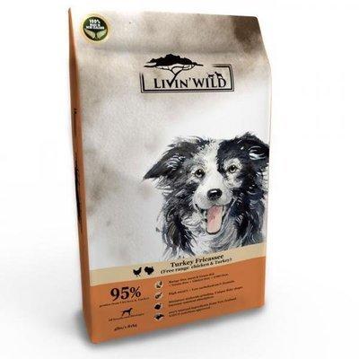 Livin'Wild 野宴-紐西蘭天然寵糧-無穀全齡犬 《放養雞&火雞》4lb/1.8kg