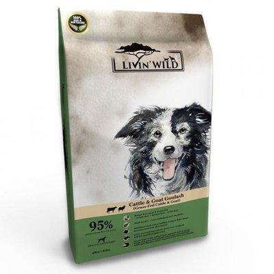 Livin'Wild 野宴-紐西蘭天然寵糧-無穀全齡犬《草飼牛&野牧山羊》4lb/1.8kg