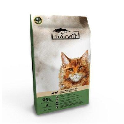 Livin'Wild 野宴-紐西蘭天然寵糧-貓系列《草飼羊&野牧山羊》4lb/1.8kg